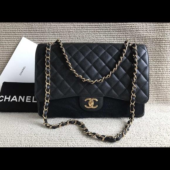 91191454b3db CHANEL Handbags - Authentic Chanel maxi caviar classic flap bag